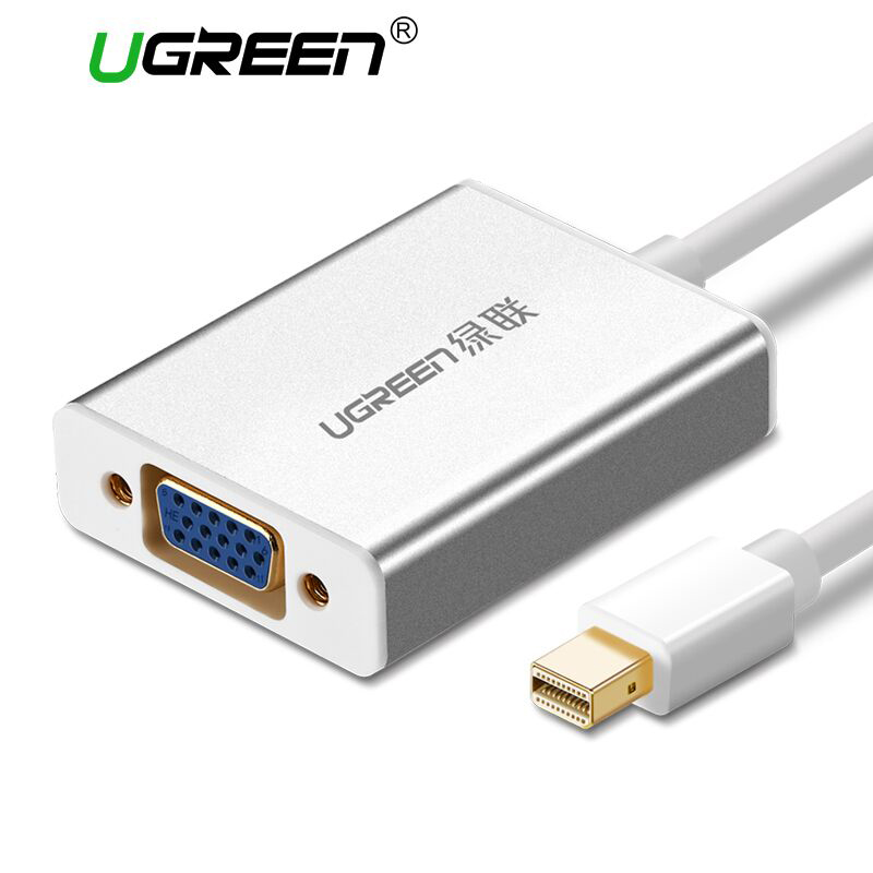 Ugreen Thunderbolt 1/2 Mini DisplayPort DP VGA adaptörü Kablosu Mini DP Erkek VGA Kadın Dönüştürücü için Apple MacBook Hava Pro