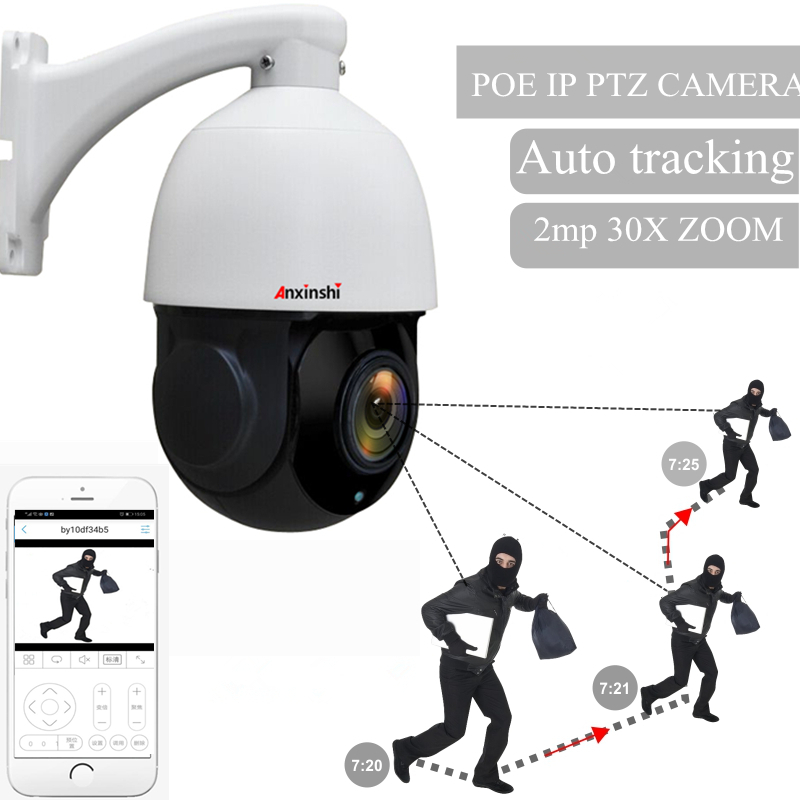 4 inç Mini 5MP IP PTZ kamera Ağ Onvif Speed Dome 30X Optik Zoom H.265 IP Kamera otomatik takip dayNight p2p cctv Cam POE
