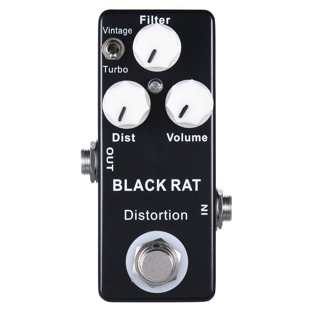 New Mosky Black RAT Distortion Mini Guitar Effect Pedal
